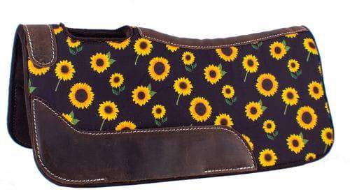 Showman Pony Felt Built Up Saddle Pad Sunflower