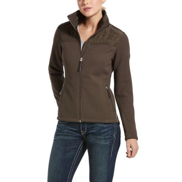 Ariat Womens Kalispell Full Zip Sweater banyan bark