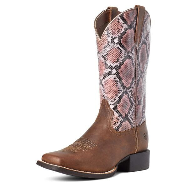 Ariat Womens Round Up Wide Square Toe