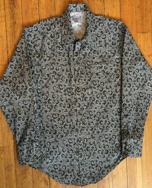 Rockmount Men Black Lace Western Shirt
