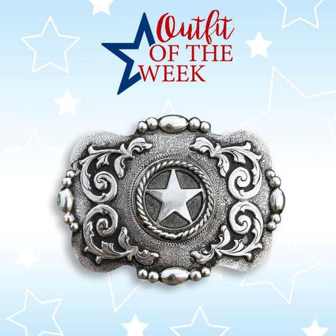 Nocona Buckle Barbwire Star