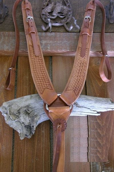 Buckaroo Pulling Breast Collar basketpunziert