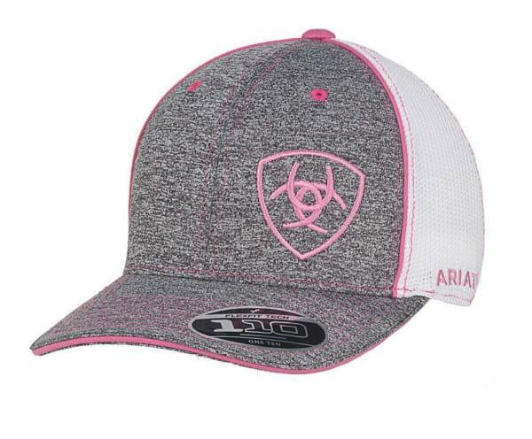 Ariat Ladys FlexFit Cap grey/pink