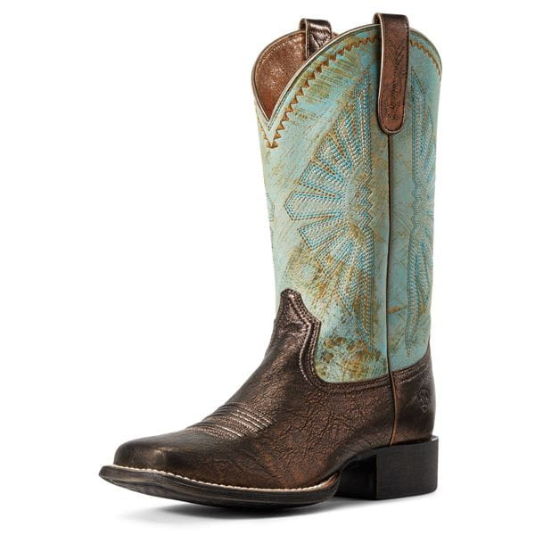 Ariat Womens Westernstiefel Round Up Rio Bronze