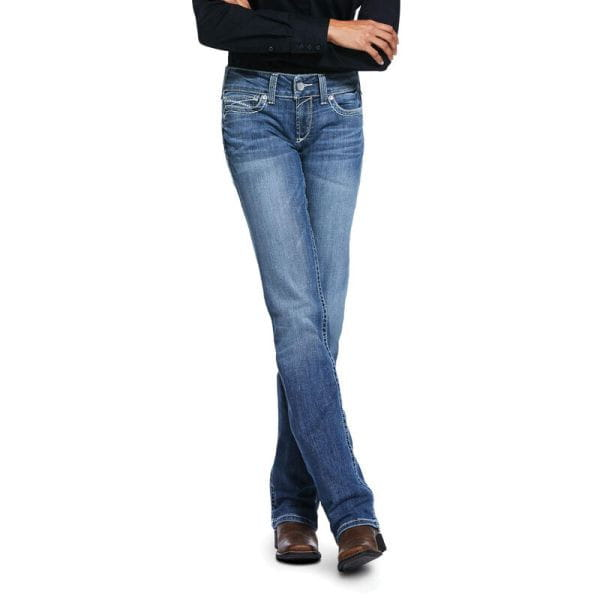 Ariat Womens Real Low Rise Stretch Ivy Stackable Straight