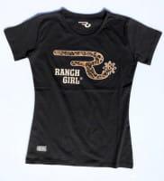 Ranchgirls Round Neck T-Shirt Leo black