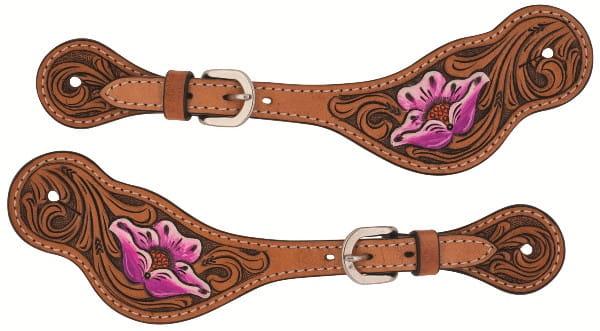 Weaver Ladies Sporenriemen Floral Carved