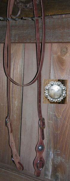 Harness Trail/Roping Rein längenverstellbar & Conchas