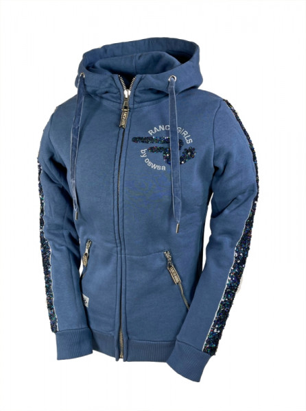 Ranchgirls Hooded Sweat Jacket JAZZ legion blue | murky grey