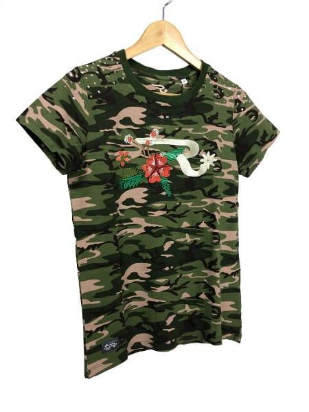 OSWSA Ranchgirl T-Shirt Faith green camou
