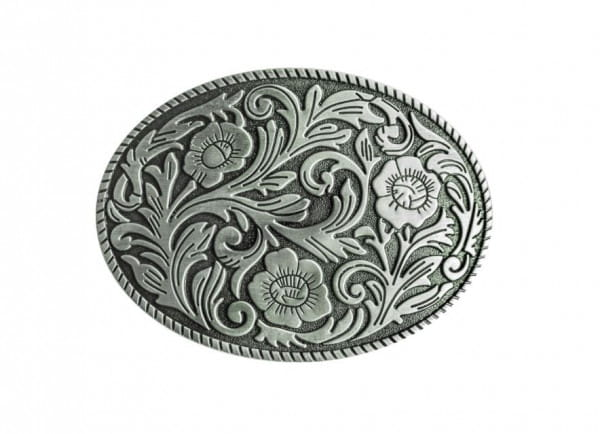 Stars&Stripes Buckle Floral silver
