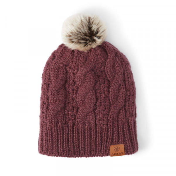 Ariat Womens Cable Beanie windsor wine