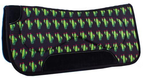 Showman Felt Built Up Saddle Pad Cactus Design