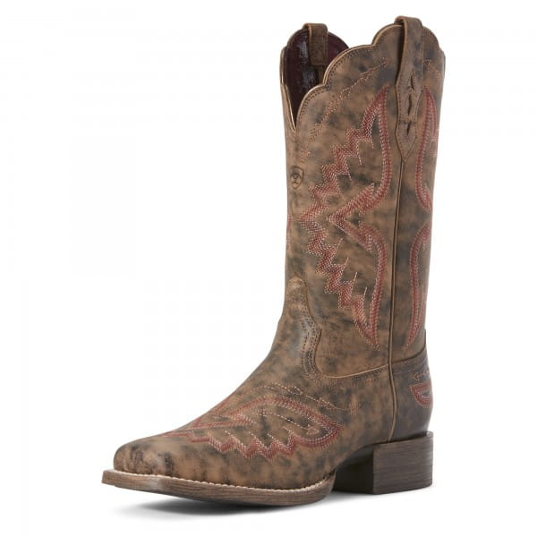 Ariat Womens Round Up Santa Fe Western Boot