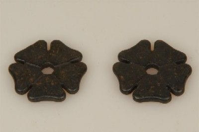 Sporenrädchen Kleeblatt gross schwarz
