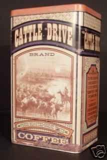 Coffee tin Cattle drive