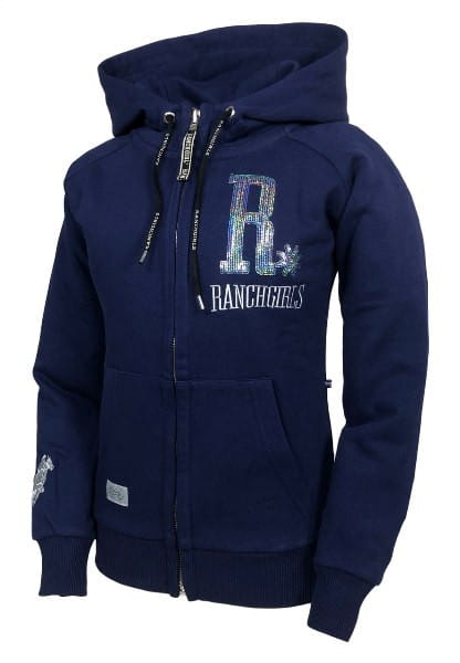 Ranchgirls Hooded JKT SHINY patriot blue & silver