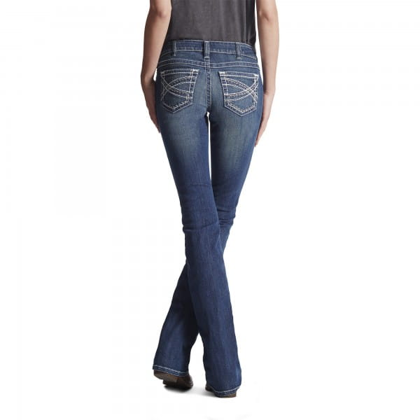Ariat Real Mid Rise Entwined Boot Cut Jeans