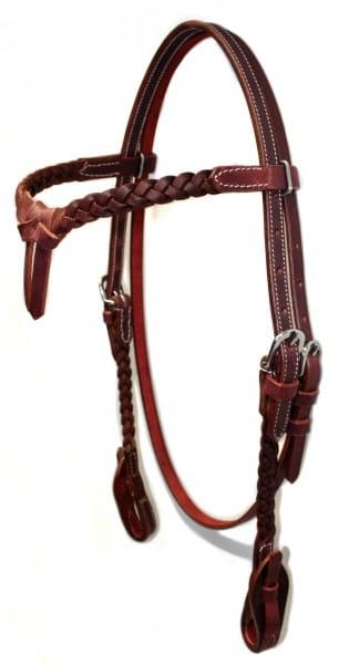 Braided Kopfstück mit knotted Stirnband