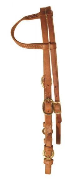 Ultimate Cowboy Gear Einohr Kopfstück Buckle Cheek mit Kehlriemen