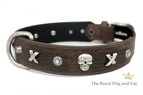 Halsband Piraten by The Royal Dog and Cats - braun/antik Gr. 37-42cm