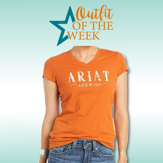 Ariat Womens Real Logo T-Shirt autumnal