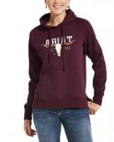 Ariat REAL Vintage Logo Sweatshirt winetasting