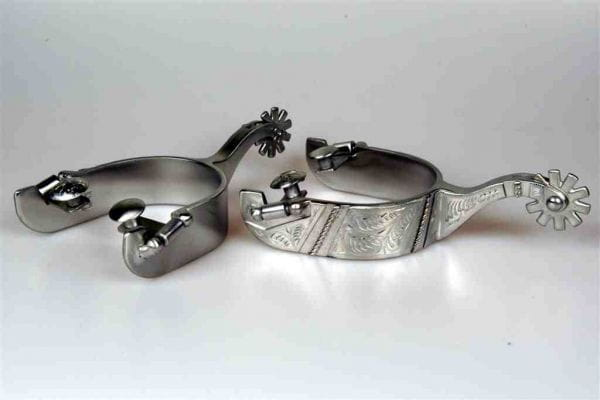 Lami-Cell SS Brushed Reining Spurs FG Collection