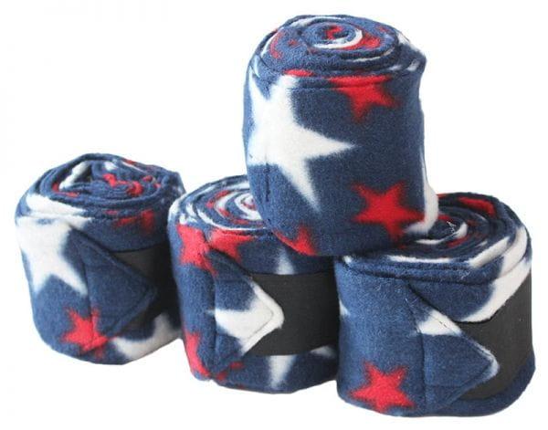 Polo-Wraps / Fleece Bandagen Fleece 4er-Set American Stars