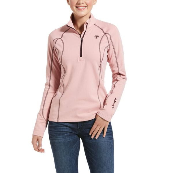 Ariat Womens Conquest 2.0 1/2 Zip Sweatshirt Island Blush