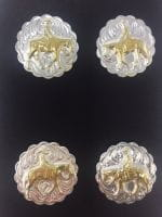 Pleasure Number Pins 4er Set german silver