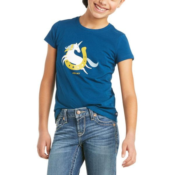Ariat Youth T-Shirt Unicorn Moon