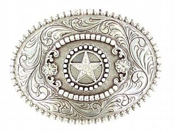 Mens Buckle Oval Star