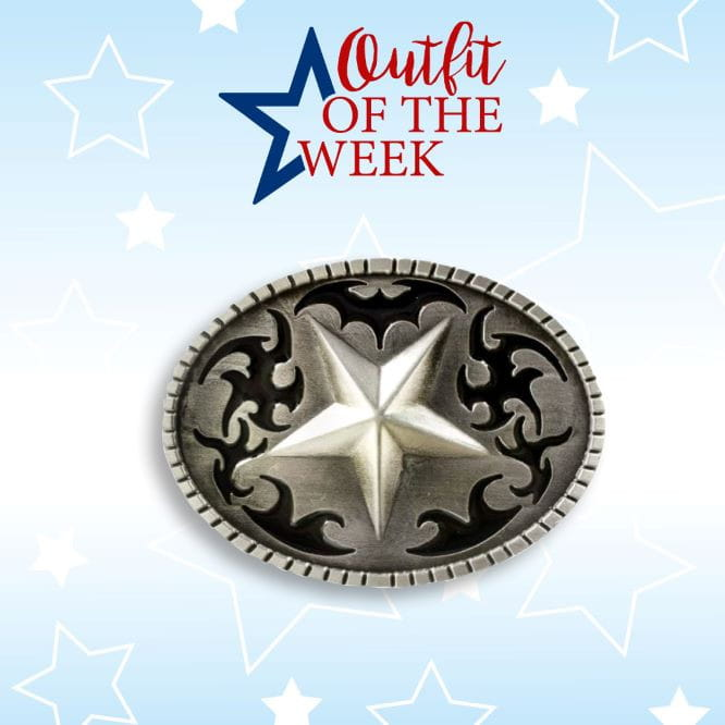 Stars&Stripes Buckle Black Star
