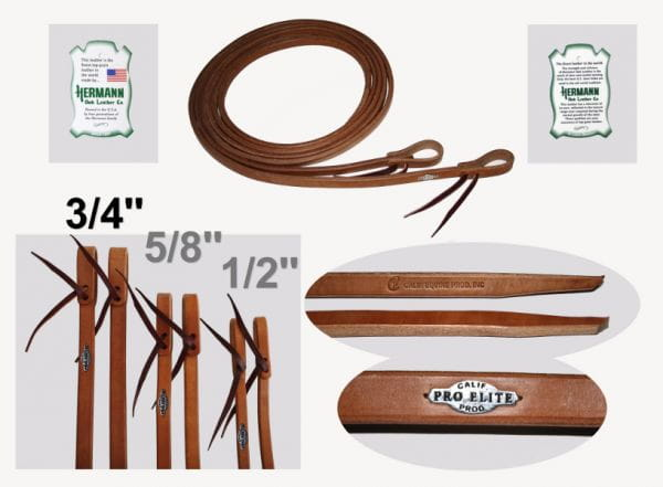 California Pro Elite Series High Premium Harness Reins 19mm