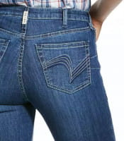 Ariat Womens Real High Rise Stretch Polly Flare Jeans