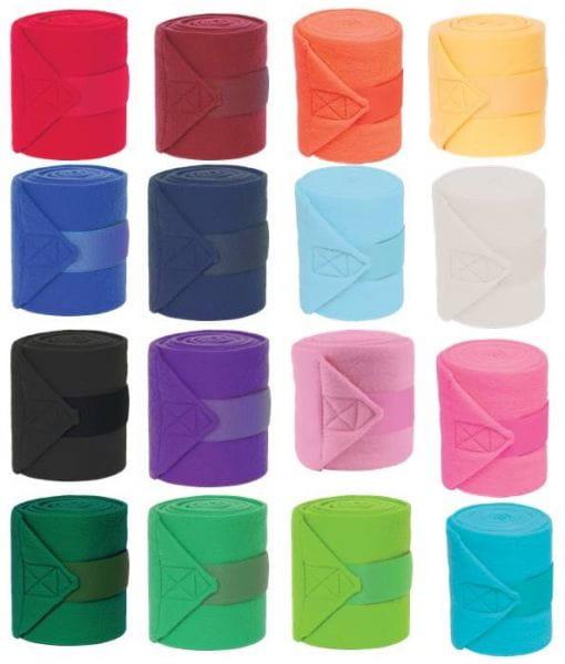 Mustang Polo-Wraps Bandagen Fleece 4er-Set 16 Farben