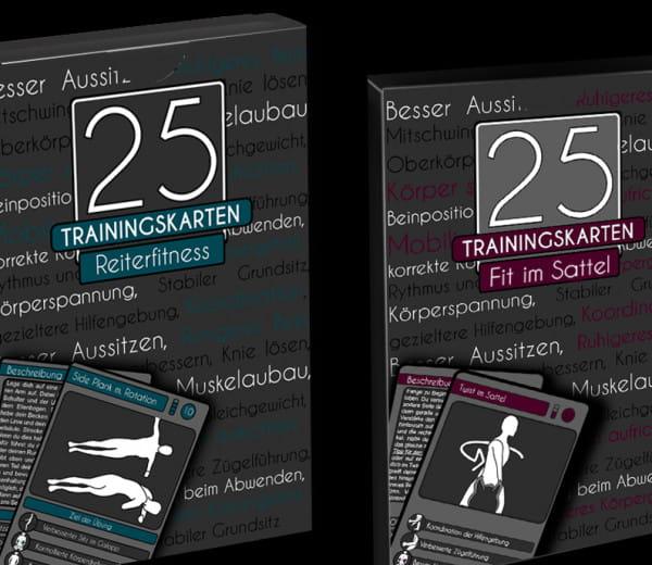 25 Traingskarten Set für Reiter