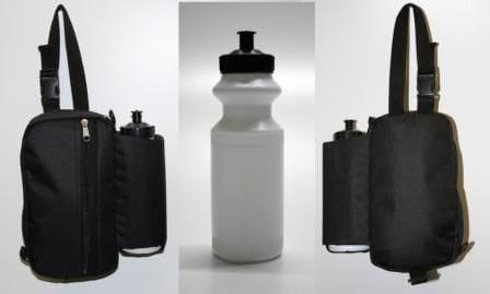 Satteltasche mit Trinkflasche