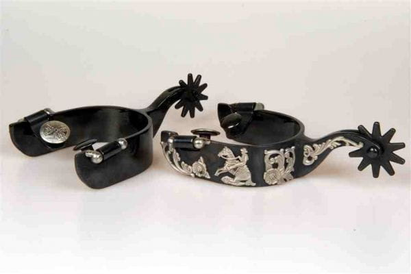 Metalab FG Black Satin Floral Reining Spurs