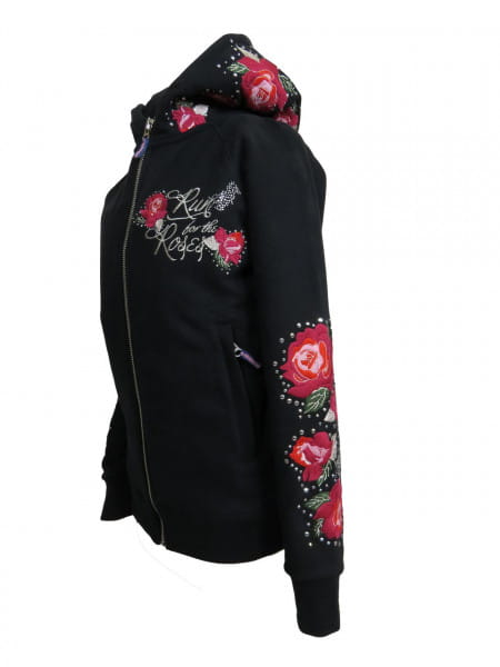 OSWSA Hooded Sweat Jacket RUN FOR THE ROSES black