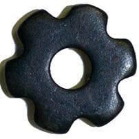 Sporenrädchen mini 6fach sanft schwarz