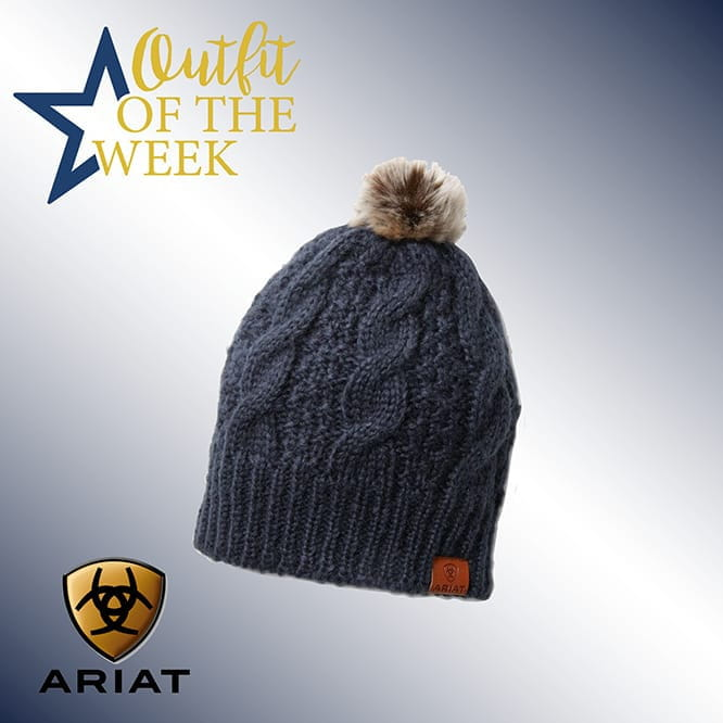 Ariat Cable Beanie navy